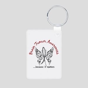 Brain Tumor Butterfly 6.1 Aluminum Photo Keychain