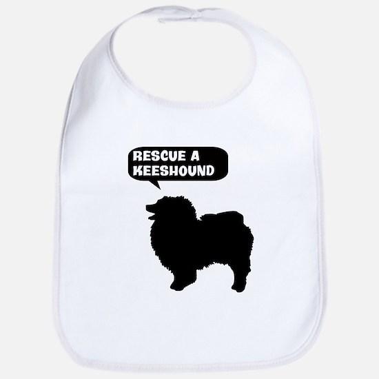 Rescue a Keeshound Bib