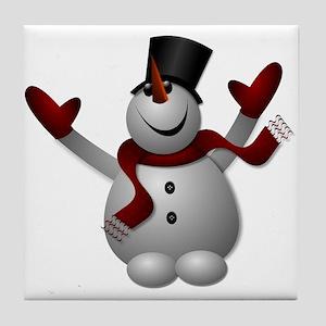 Jolly Snowman Tile Coaster
