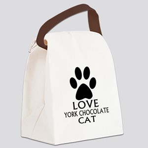 Love York Chocolate Cat Designs Canvas Lunch Bag