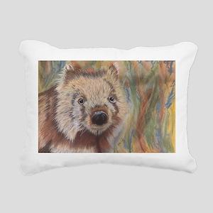 Wally Wombat Rectangular Canvas Pillow