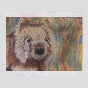Wally Wombat Throw Blanket