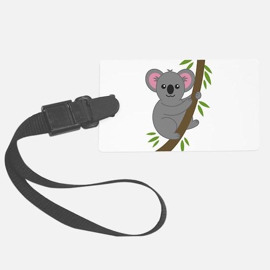 Cartoon Koala in a Tree Luggage Tag