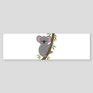 Cartoon Koala in a Tree Bumper Sticker