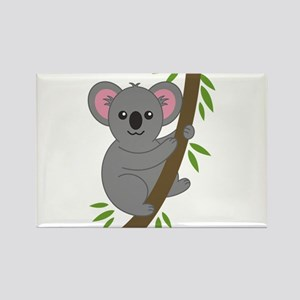 Cartoon Koala in a Tree Magnets