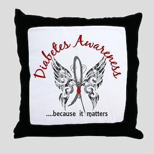 Diabetes Butterfly 6.1 Throw Pillow
