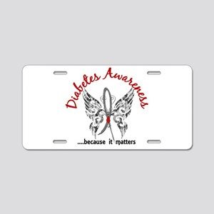 Diabetes Butterfly 6.1 Aluminum License Plate