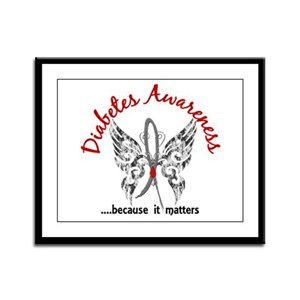 Diabetes Butterfly 6.1 Framed Panel Print