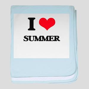 I love Summer baby blanket