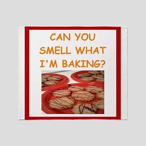oatmeal cookies Throw Blanket