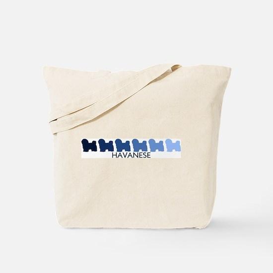 Havanese (blue color spectrum Tote Bag