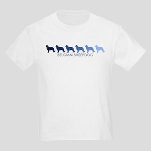 Belgian Sheepdog (blue color  Kids Light T-Shirt