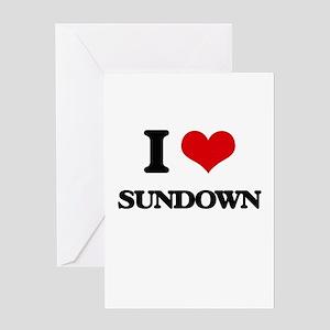 I love Sundown Greeting Cards