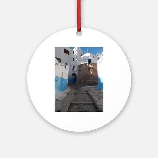 Kasbah des Oudaias, Rabat, Morocc Ornament (Round)