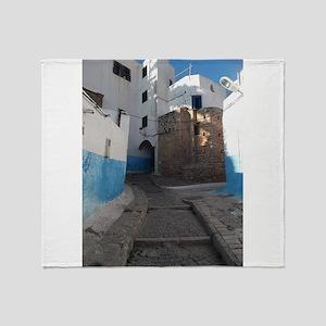 Kasbah des Oudaias, Rabat, Morocco Throw Blanket