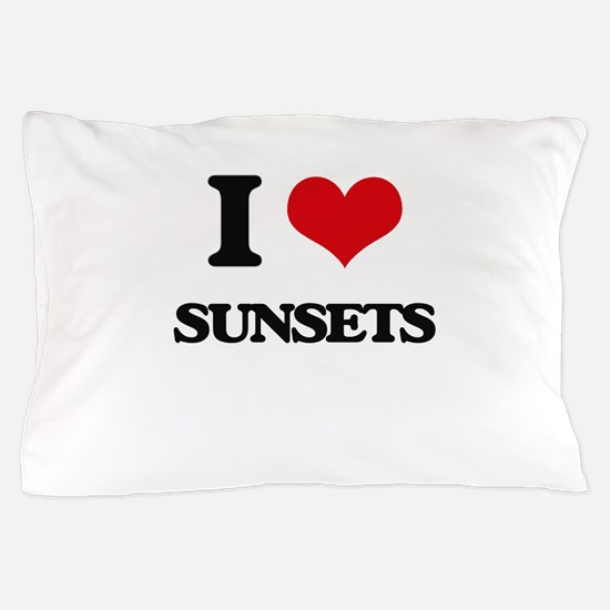 I love Sunsets Pillow Case