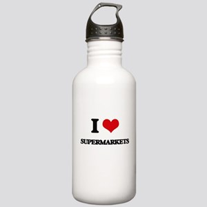I love Supermarkets Stainless Water Bottle 1.0L