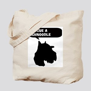 Rescue a Schnoodle Tote Bag