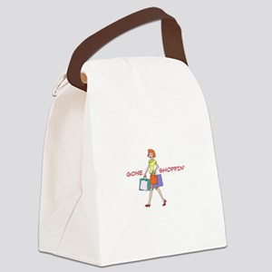 Gone Shoppin Canvas Lunch Bag