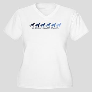American Water Spaniel (blue  Women's Plus Size V-