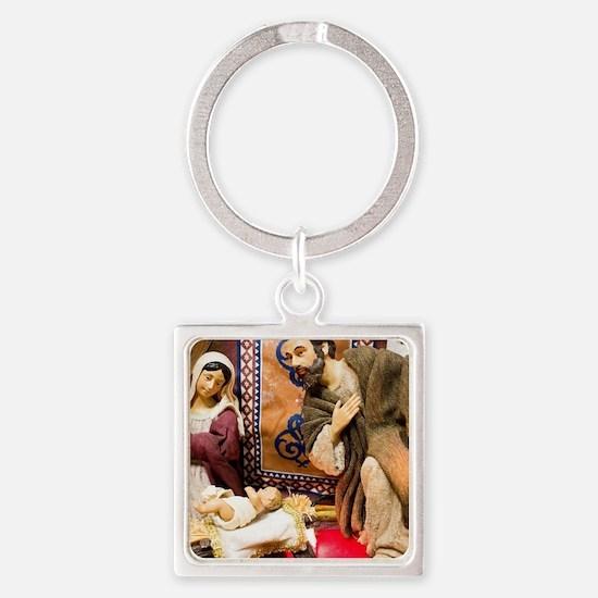 Nativity Square Keychain
