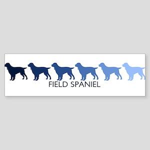 Field Spaniel (blue color spe Bumper Sticker