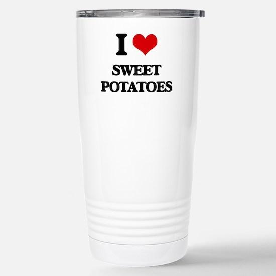 I love Sweet Potatoes Stainless Steel Travel Mug
