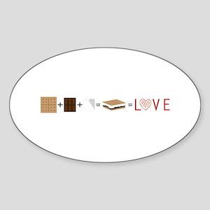 SMore Equals Love Sticker