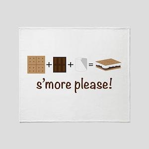 SMore Please Throw Blanket