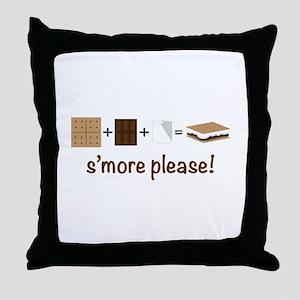 SMore Please Throw Pillow