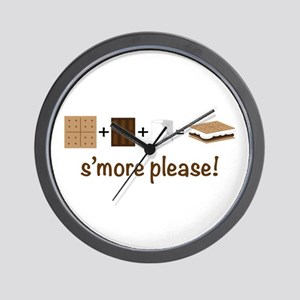 SMore Please Wall Clock