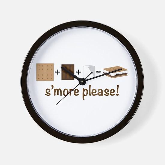 SMore Please Wall Clock