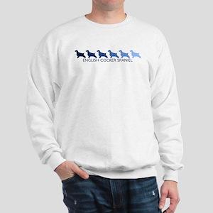 English Cocker Spaniel (blue  Sweatshirt