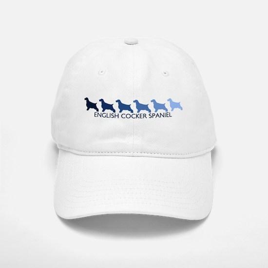 English Cocker Spaniel (blue Baseball Baseball Cap