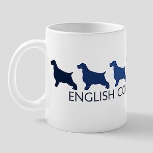English Cocker Spaniel (blue  Mug