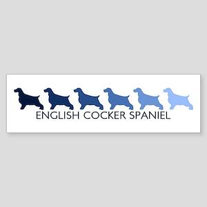 English Cocker Spaniel (blue Bumper Sticker
