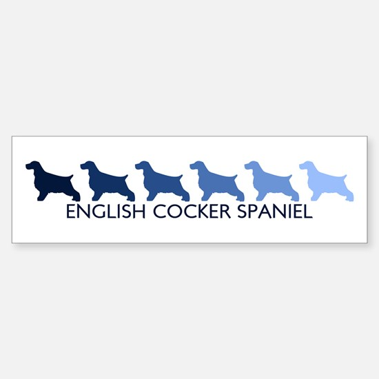English Cocker Spaniel (blue Bumper Bumper Bumper Sticker