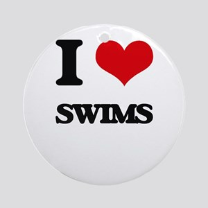 I love Swims Ornament (Round)