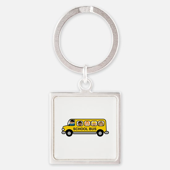 School Bus Kids Keychains