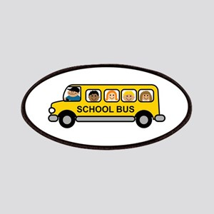 School Bus Kids Patches