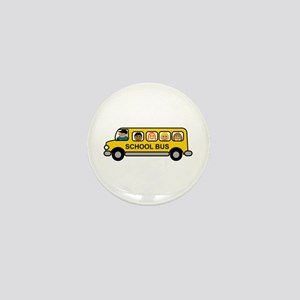School Bus Kids Mini Button