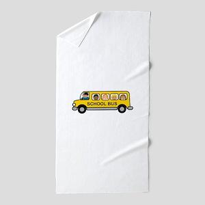 School Bus Kids Beach Towel