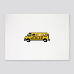 School Bus Kids 5'x7'Area Rug