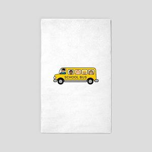 School Bus Kids Area Rug