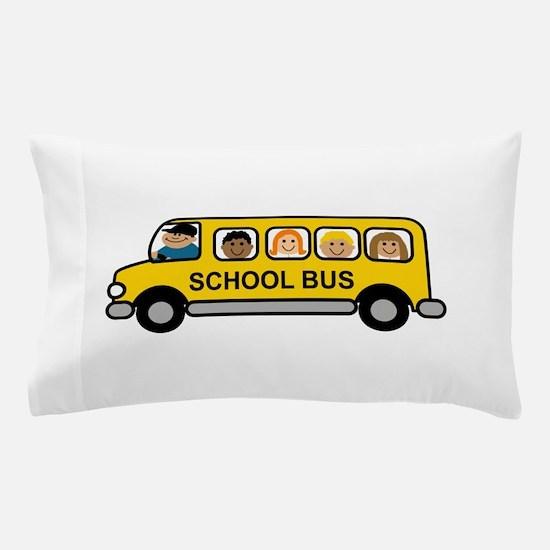 School Bus Kids Pillow Case
