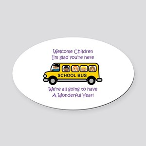 Welcome Childern Oval Car Magnet