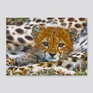 Cheetah Cub 5'x7'Area Rug