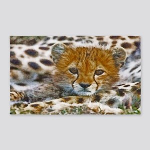 Cheetah Cub Area Rug