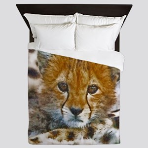 Cheetah Cub Queen Duvet