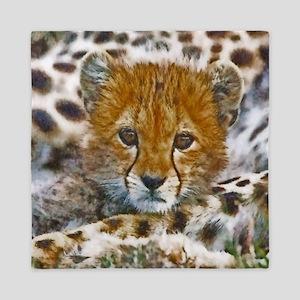 Cheetah Cub Queen Duvet